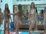 Group Of Youngs Girls Dancing Nude