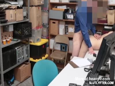 Scared Thief Fucked By Security
