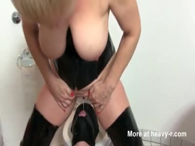Busty Milf Pisses In Slave Mouth