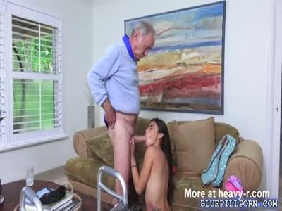 Sucking Off Gramps