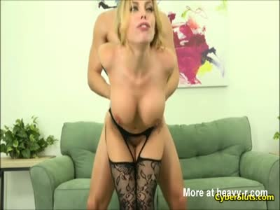 Big Ass Blonde In Stockings Anal Sex