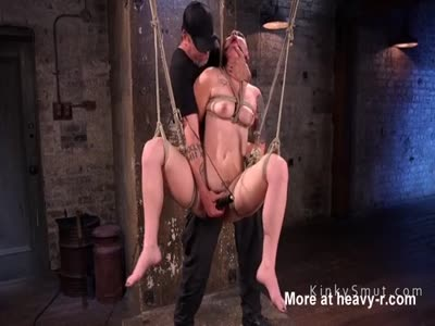 Hairy Slave Whipped In Bondage