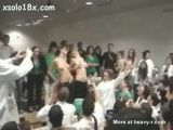 College Girls Go Topless At Student Party