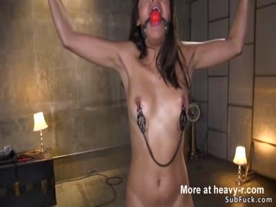 Hot ebony brutal whipped and banged