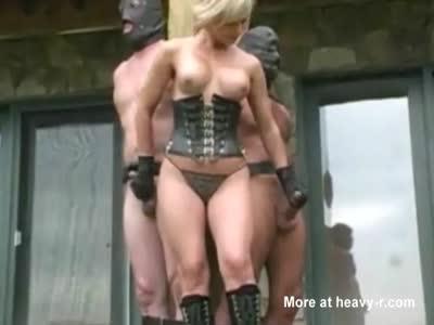 Double Handjob For Bound Men