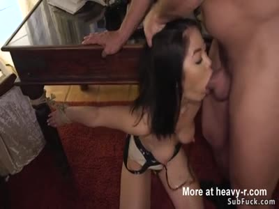 Clamped Nipples Girl Mouth And Anal Fucked