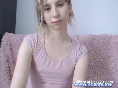 Cute Blonde Tranny Jacks Her Sweet Cock