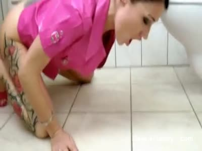 Licking Piss From Floor