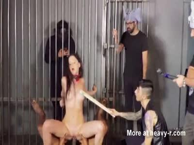 Cage Gangbang