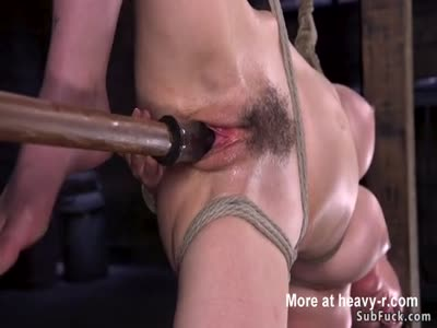 Hairy Slut Pussy Toyed In BDSM