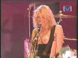 Courtney Love topless during concert