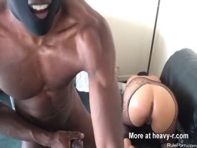 BBC fucks creamy black twat