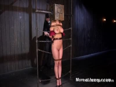 Strapped Busty Blonde Spanked