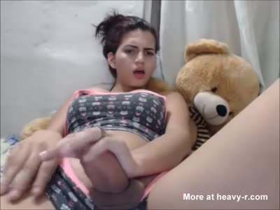 Blonde showing wet pussy in mini