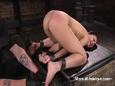 Ass Spanking For Bound Babe