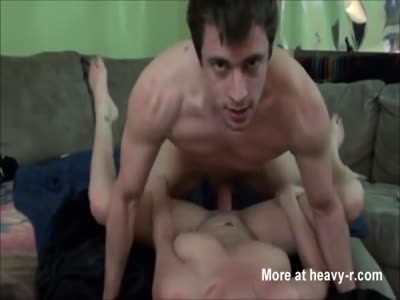 Teen chick rides a cock