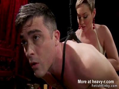 Busty Mistress Fucks Male Sub In Ass