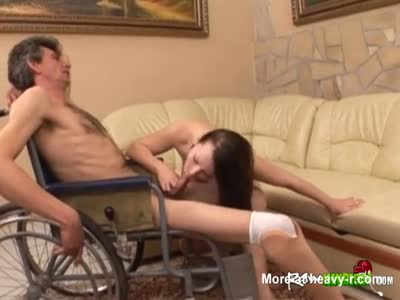 Sucking Handicapped Man