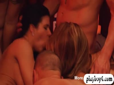 Horny couples group sex with swingers
