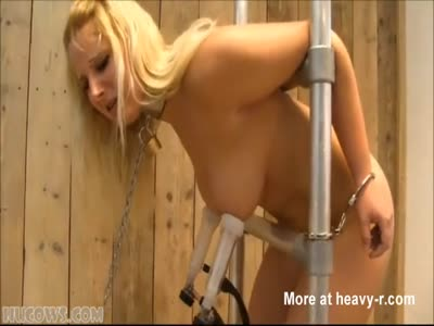 Busty Blonde Gets Milked