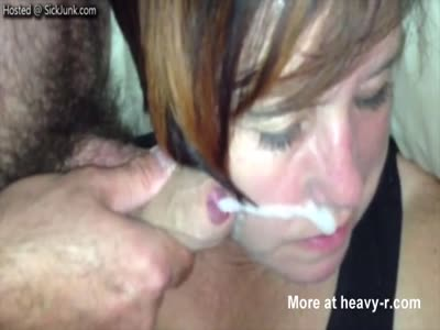 Stoned As Fuck Mom Takes Huge Facial