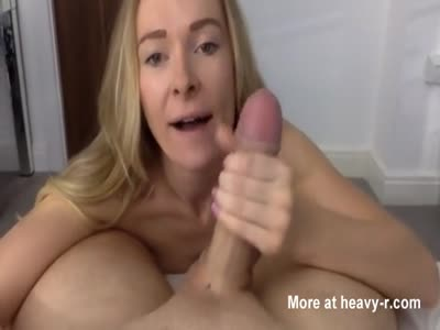Pov sucking and swallow