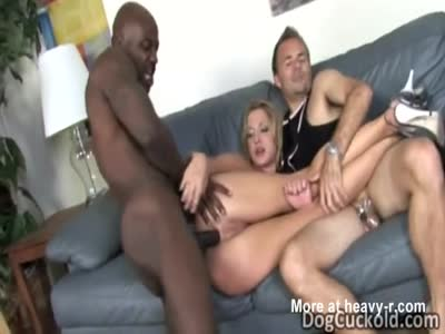 Wife Cuckolds Husband With Anal Sex With Black Dick