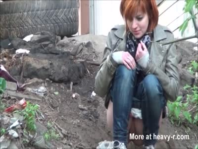 Peeing Redhead