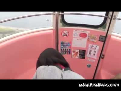 Japanese Girl Fucked In A Cable Car