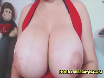 Latina Mommy Toying Monster Tits