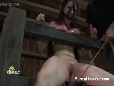 Dungeon Torturing A slave Brunette