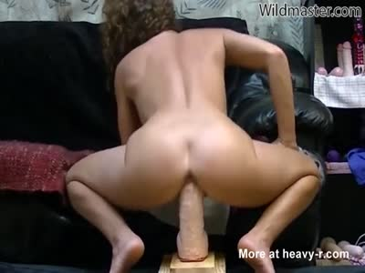 Extreme Big Dildo Ride