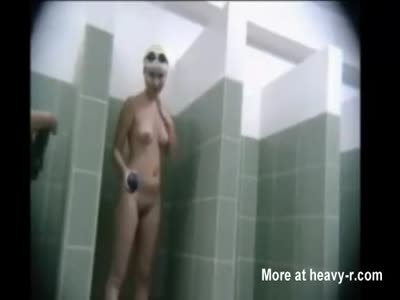 Teens In Public Shower