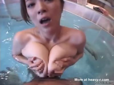 Big Tit Japanese Gets Nasty In The Pool