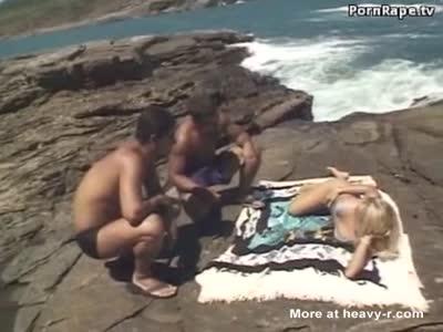 Sunbathing Girl Raped