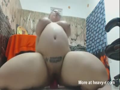 Fat Pig Dildo Riding