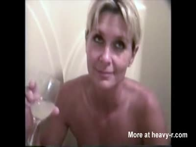 Drinking Old Cum and Piss