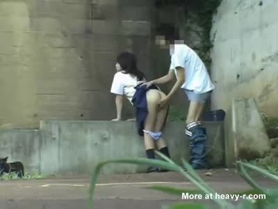 Japanese Schoolgirl Having Sex In Public Park