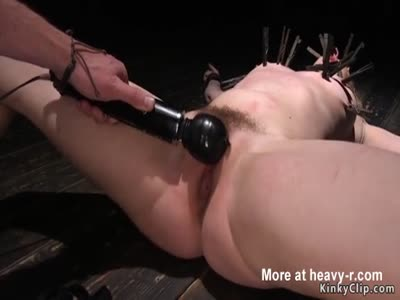 Hairy pussy blonde fucked with dildo