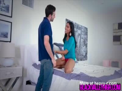 Cute Ebony Teen Sneaks Around Dad To Fuck Boyfriend