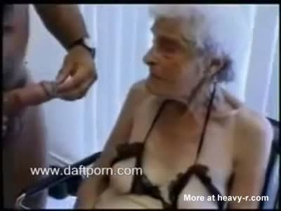 Granny Gives Grandson Blowjob