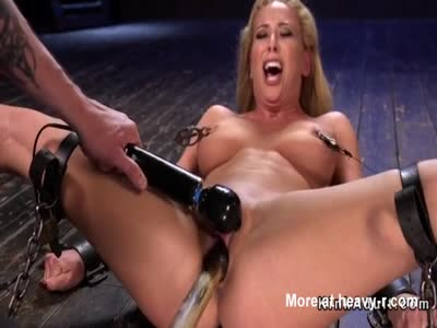 Busty Babe In Bondage Gets Toyed