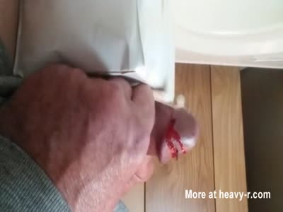 Inserting Massive Needle In Cock