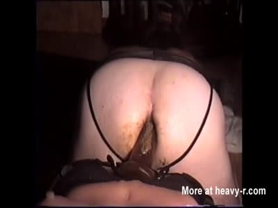 DinaDoll and Her Red Strapon Fuck My Shitty Ass Again!