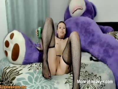 Sexy Brunette Teen Fingering Her Ass