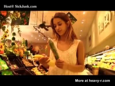 Beautiful Teen Loves Cucumbers