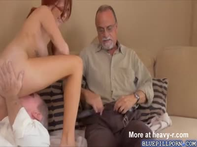 Redhead Sucking Off Old Men