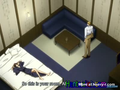 Sexy muscular hentai twink anal sex and love