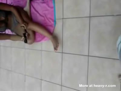 Gorgeous Babe In Bikini, Then Naked