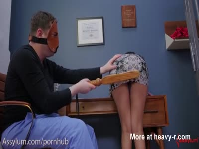 Slurping Cum While Getting Ass Spanked
